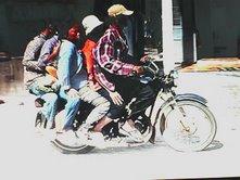 5 en la moto